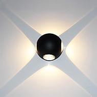 baratos Arandelas de Parede-Estilo Mini Simples / Moderno / Contemporâneo Luminárias de parede Sala de Estar / Entrada Metal Luz de parede 85-265V 3 W