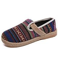 baratos Sapatos Femininos-Mulheres Sapatos Confortáveis Linho Verão Rasos Sem Salto Vermelho / Azul