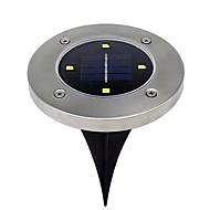 tanie Światła drogi-BRELONG® 1 szt. 2 W Światła do trawy Wodoodporny / Na energię słoneczną / Kreatywne Ciepła biel / Biały 5 V Oświetlenie zwenętrzne / Dziedziniec / Ogród 4 Koraliki LED