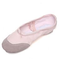 billige Kustomiserte dansesko-Dame Ballettsko Lerret / Griseskinn Flate Tvinning Flat hæl Kan spesialtilpasses Dansesko Rosa