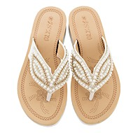 Pentru femei Pantofi de confort PU Vară Sandale Toc Drept Albastru / Roz / Migdală