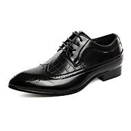 baratos Sapatos de Tamanho Pequeno-Homens Bullock Tênis Couro Envernizado Outono Oxfords Preto / Azul / Vinho