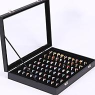 baratos Armazenamento de Bijuteria-Armazenamento Organização Coleção de jóias Mistura de Material Forma do retângulo Cobertura flip-aberta