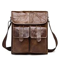 tanie Torby na ramię-torebki męskie torba na ramię ze skóry nappa jednolity kolor czarny / brązowy / kawa
