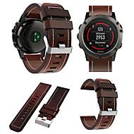 billiga Smart klocka Tillbehör-Klockarmband för Fenix 5x Garmin Sportband / Läderloop Läder Handledsrem
