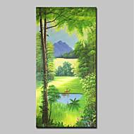 billiga Landskapsmålningar-Hang målad oljemålning HANDMÅLAD - Landskap / Blommig / Botanisk Klassisk / Moderna Utan innerram / Valsad duk