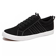 baratos Sapatos Masculinos-Homens Sapatos Confortáveis Couro de Porco / Couro Ecológico Outono Casual Tênis Não escorregar Preto / Marron