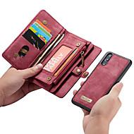 CaseMe Hülle Für Huawei P20 Pro / P20 lite Geldbeutel / Kreditkartenfächer / Flipbare Hülle Ganzkörper-Gehäuse Solide Hart PU-Leder für Huawei P20 / Huawei P20 Pro / Huawei P20 lite