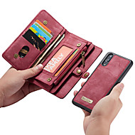 CaseMe Kılıf Na Huawei P20 Pro / P20 lite Portfel / Etui na karty / Flip Pełne etui Solidne kolory Twardość Skóra PU na Huawei P20 / Huawei P20 Pro / Huawei P20 Lite