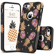 billiga Mobil cases & Skärmskydd-BENTOBEN fodral Till Apple iPhone 5-fodral Stötsäker / Mönster Skal Växter / Frukt Hårt PC för iPhone SE / 5s / iPhone 5