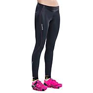SANTIC Pentru femei Colanți Cycling Bicicletă Pantaloni / Dresuri Ciclism / Pantaloni Scurți Padded Respirabil, 3D Pad Mată, Clasic Elastan Negru Avansat Ciclism montan Semi-formal Îmbrăcăminte