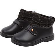 baratos Sapatos de Menina-Para Meninas Sapatos Couro Ecológico Inverno / Outono & inverno Botas da Moda Botas Caminhada Tira Trançada para Infantil Preto / Rosa claro / Botas Curtas / Ankle