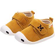 baratos Sapatos de Menino-Para Meninos / Para Meninas Sapatos Couro Ecológico Primavera & Outono / Primavera Verão Conforto Rasos Caminhada Velcro para Infantil Amarelo / Castanho Claro