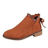 Χαμηλού Κόστους Γυναικεία Παπούτσια-Γυναικεία Fashion Boots Σουέτ Φθινόπωρο & Χειμώνας Καθημερινό Μπότες Περπάτημα Επίπεδο Τακούνι Στρογγυλή Μύτη Μποτίνια Πράσινο Χακί / Ανοικτό Καφέ / Χακί