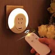 billiga Belysning-1st LED Night Light Naturlig vit DC-driven Bimbar / Säkerhet / Trådlös 220-240 V