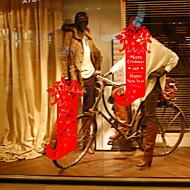 tanie סרטים ומדבקות לחלון-Folie okienne i naklejki Dekoracja Święta Święto Polichlorek winylu Nowoczesne / Sklep / Kawiarnia