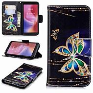 billiga Mobil cases & Skärmskydd-fodral Till Xiaomi Redmi Note 5 Pro / Redmi 6 Plånbok / Korthållare / med stativ Fodral Fjäril Hårt PU läder för Xiaomi Redmi Note 5 Pro / Redmi 6A / Redmi 6