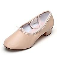 billige Ballettsko-Dame Ballettsko Fuskelær Flate Tvinning Flat hæl Kan spesialtilpasses Dansesko Rosa