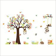 Dekorative Mur Klistermærker - Fly vægklistermærker / Animal Wall Stickers Dyr / Blomstret / Botanisk Barnerom