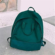 baratos Mochilas-Mulheres Bolsas Tela de pintura mochila Ziper Rosa / Cinzento / Verde Escuro