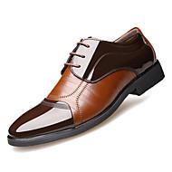 Homens Sapatos Confortáveis Couro Ecológico Outono Casual Oxfords Não escorregar Preto / Marron