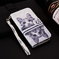 billiga Mobil cases & Skärmskydd-fodral Till Huawei P smart / Enjoy 7S Plånbok / Korthållare / med stativ Fodral Katt Hårt PU läder för Huawei P20 / Huawei P20 Pro / Huawei P20 lite