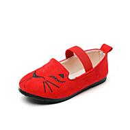 baratos Sapatos de Menino-Para Meninos / Para Meninas Sapatos Couro Ecológico Primavera & Outono / Primavera Verão Conforto Rasos Caminhada Estampa Animal / Velcro para Infantil Preto / Marron / Vermelho