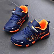 baratos Sapatos de Menino-Para Meninos / Para Meninas Sapatos Couro Ecológico Primavera & Outono / Primavera Conforto Tênis Corrida / Caminhada Cadarço / Velcro para Adolescente Preto / Laranja / Azul Escuro