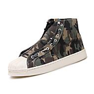 baratos Sapatos Masculinos-Homens Sapatos Confortáveis Jeans Outono Casual Tênis Respirável Cinzento / Verde