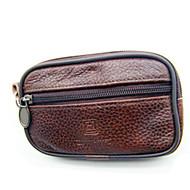 baratos Clutches & Bolsas de Noite-Homens Bolsas PU Bolsa de Mão Ziper Marron