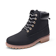 cheap Men's Boots-Men's Combat Boots Faux Leather Fall & Winter Classic / Chinoiserie Boots Water Proof Rainbow / Brown / Camel / Outdoor