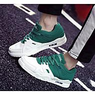 baratos Sapatos Masculinos-Homens Sapatos Confortáveis Microfibra Primavera & Outono Casual Tênis Corrida Rosa e Branco / Branco / Preto / Branco e Verde
