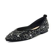 baratos Super Ofertas-Mulheres Sapatos Confortáveis Sintéticos Outono Rasos Sem Salto Dedo Apontado Preto / Amarelo / Rosa Claro / Casamento / Festas & Noite