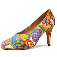 billige Moderne sko-Dame Moderne sko Sateng Høye hæler Satengblomst / Spenne Utsvingende hæl Dansesko Gul / Blå