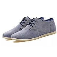 baratos Sapatos Masculinos-Homens Sapatos Confortáveis Jeans Outono Casual Tênis Respirável Marron / Azul