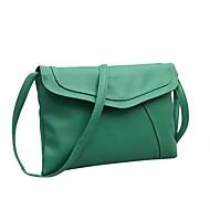 baratos Bolsas de Ombro-Mulheres Bolsas PU Bolsa de Ombro Côr Sólida Verde Escuro / Marron / Khaki