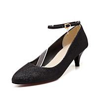 Mujer Zapatos Confort PU Primavera Tacones Tacón Stiletto Dorado / Negro / Plata