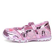 baratos Sapatos de Menina-Para Meninas Sapatos Couro Ecológico Primavera & Outono / Primavera Sapatos para Daminhas de Honra Rasos Caminhada Estampa Animal para Infantil / Adolescente Fúcsia / Rosa claro
