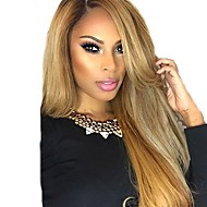 Remy Human Hair Full Lace Lace Front Wig Asymmetrical style Brazilian Hair Straight Natural Straight Blonde Wig 130% 150% 180% Density with Baby Hair Soft Women Best Quality Hot Sale Blonde Women's