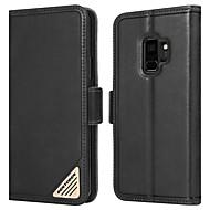 billiga Mobil cases & Skärmskydd-BENTOBEN fodral Till Samsung Galaxy S9 Stötsäker / med stativ / Lucka Fodral Enfärgad Hårt Äkta Läder / PC för S9