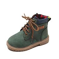 baratos Sapatos de Menino-Para Meninos / Para Meninas Sapatos Couro Sintético / Couro Ecológico Primavera Verão Conforto / Botas da Moda Botas Caminhada Ziper / Cadarço / Combinação para Infantil Preto / Amarelo / Verde