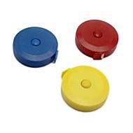 billige Kontor Nødvendigheter-1pc 150cm roulette målebånd måle inntrekkbar fargerik bærbar linjal centimeter tomme for klær føtter myke føtter tilfeldig farge