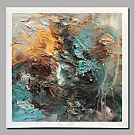 billiga Landskapsmålningar-Hang målad oljemålning HANDMÅLAD - Abstrakt Landskap Samtida Moderna Inkludera innerram / Valsad duk / Sträckt kanfas