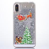 billiga Mobil cases & Skärmskydd-fodral Till Apple iPhone X Glittrig Skal Jul Hårt Plast för iPhone X
