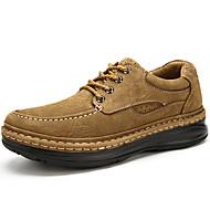 baratos Sapatos Masculinos-Homens Sapatos de couro Pele Napa Outono Clássico / Casual Oxfords Manter Quente Marron