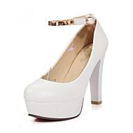 baratos Sapatos Femininos-Mulheres Sapatos Confortáveis Couro Ecológico Verão Saltos Salto Agulha Branco / Preto