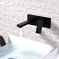 billige Rabatt Kraner-Baderom Sink Tappekran - Utbredt / Nytt Design Malte Finishes Vægmonteret Enkelt håndtak To HullerBath Taps