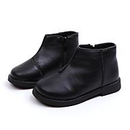 baratos Sapatos de Menina-Para Meninas Sapatos Couro Sintético / Couro Ecológico Primavera Verão Conforto / Botas da Moda Botas Caminhada Ziper / Combinação para Infantil Preto / Amarelo / Vermelho / Botas Curtas / Ankle