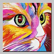 billiga Abstrakta målningar-Hang målad oljemålning HANDMÅLAD - Abstrakt Popkonst Moderna Inkludera innerram / Sträckt kanfas