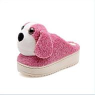 baratos Sapatos Femininos-Mulheres Sapatos Confortáveis Camurça Inverno Chinelos e flip-flops Sem Salto Roxo / Vermelho / Amêndoa